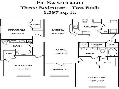 Three bedroom Apartment For rent