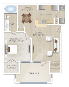 One bedroom Apartment in Cooperfield TX