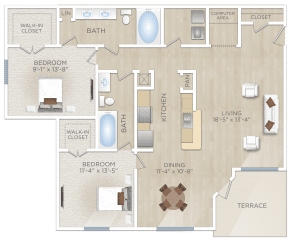 Two bedroom Apartment in Cooperfield TX
