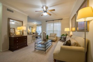 estancia valencia one bedroom living room