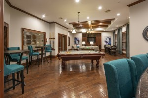 One Bedroom Apartments for Rent in Northwest Houston, TX - Clubhouse Pool Table and Seating Areas