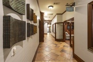 One Bedroom Apartments for Rent in Northwest Houston, TX - Clubhouse Recreation Center Hallway Entrance