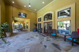 Three Bedroom Apartments for Rent in Northwest Houston, TX - Clubhouse Patio Entrance